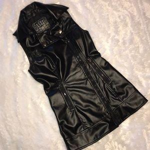 Last Kiss Asymmetrical Zippered Vest